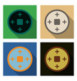 set of chinese copper coins translation vector image
