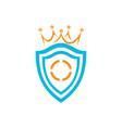 shield king logo icon vector image