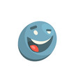 silly blue smiley vector image vector image