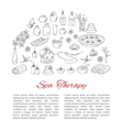 Spa hand drawn doodle icons vector image