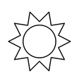 sun isolated icon design vector image