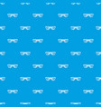 sunglasses pattern seamless blue vector image vector image