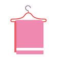 towel hanging in wire hook vector image