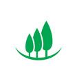 tree landscape logo vector image vector image