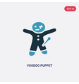 two color voodoo puppet icon from other concept vector image vector image