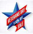 veterans day sale banner template vector image vector image