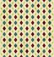 vintage rhombuses seamless pattern vector image