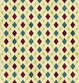 vintage rhombuses seamless pattern vector image vector image