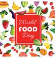 watercolor foods background vector image