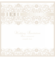 Wedding Invitation card with lace floral ornament vector image vector image
