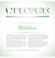 welcome headline on background vector image