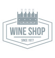 wine shop logo simple gray style vector image vector image