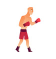 young bald caucasian male boxer in boxing gloves vector image vector image
