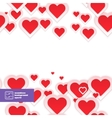 Abstract Red Paper Hearts Seamless Pattern vector image