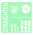Straighten 5s methodology vector image
