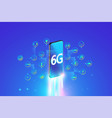 6g system fastest internet connection with smartph vector image vector image