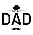 abstract super dad vector image