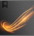 abstract wavy transparent light effect background vector image vector image