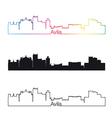 Avila skyline linear style with rainbow vector image vector image