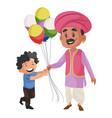 balloon seller cartoon character