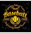 Baseball tournament emblem for t-shirt vector image vector image