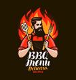 bbq barbecue design of menu for restaurant