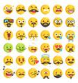 big set 36 moustache emojis vector image