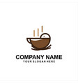 bird coffee logo vector image vector image