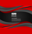 black and red color wave abstract background with vector image vector image