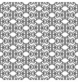 black linear decorative pattern vector image vector image