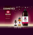 body care cosmetic set serum oil and cream ads vector image
