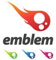 business corporate design element emblem as fire b vector image vector image
