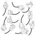 cartoon hands body parts collection hands vector image