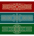 celtic ornaments and patterns vector image vector image