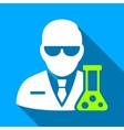 Chemical Scientist Flat Long Shadow Square Icon vector image vector image