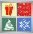 christmas card designs vector image vector image
