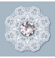 christmas snowflake decoration with diamond jewel vector image vector image