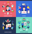 coaching concept icons set vector image vector image