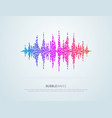 colorful pixelated sound waves abstract vector image vector image