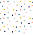 confetti seamless pattern colorful circles vector image