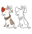 Cute hunting dog cartoon charac