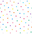 dotted seamless minimalistic pattern with colorful vector image vector image