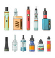 e cigarettes and different electric tools for vector image vector image