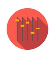 Equalizer flat icon vector image vector image