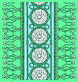 ethnic seamless pattern blue and white colors vector image
