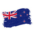 flag of new zealand grunge abstract brush stroke vector image vector image