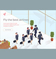 fly best airlines aircraft crew vector image vector image