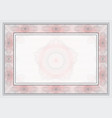 guilloche template vector image