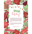 happy holidays background vector image