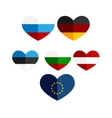 heart Russia Austria Europe Germany icon vector image vector image